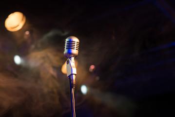 Retro microphone mic, professional equipment
