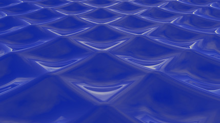 Abstract wavy background 3D Illustration