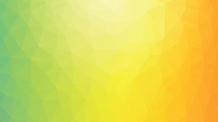 colorful geometric polygonal green yellow orange background Wall mural