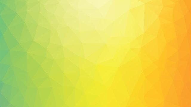 colorful geometric polygonal green yellow orange background