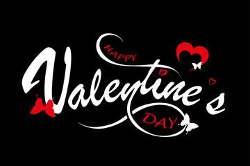 description - happy valentine's day - vector card , background ( love , romantic )