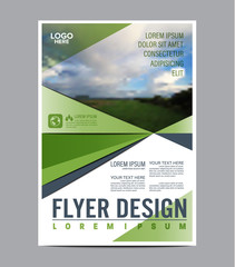 Greenery Brochure Layout design template. Annual Report Flyer Leaflet cover Presentation Modern background. illustration vector artwork