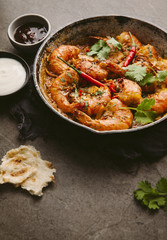 Indian spiced prawns