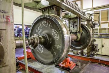 car-repair depots maintenance of railway wheels
