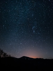 stars over the hill