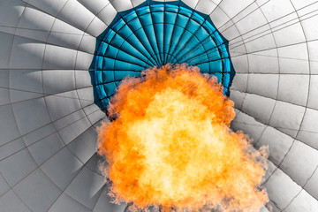 Low angle view of flame inside a hot air balloon