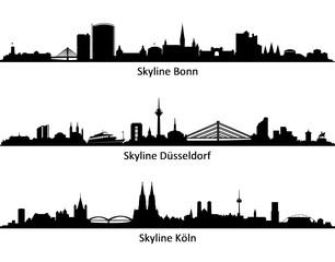 Skylines Bonn, Köln und Düsseldorf