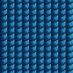 Cartoon blue Roof Tiles Seamless Background, collection texture
