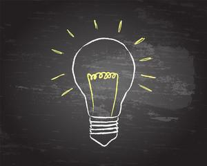 Light Bulb Blackboard