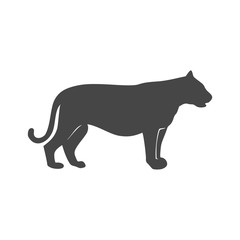 Panther, puma, wild cat icon - Illustration