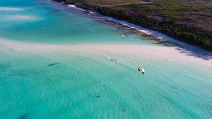 Занзибар пляж вид с воздуха