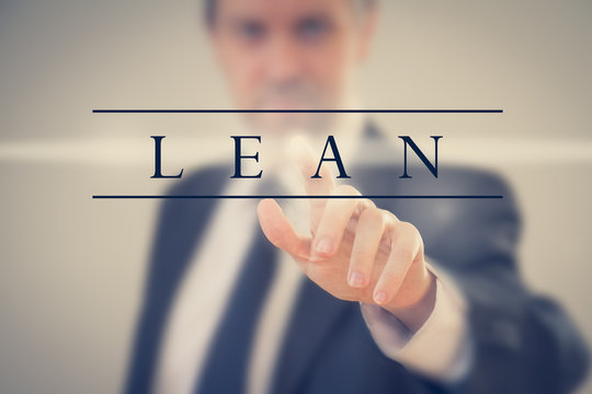 Business man adopting Lean methodology