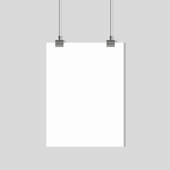 sheet hanging. office background