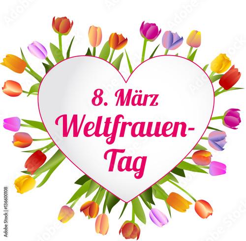 """""""8. März Weltfrauentag"""" Stockfotos und lizenzfreie ..."""