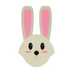 cute easter face bunny vector illusration eps 10