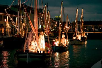 Foto auf Leinwand Port porto canale museo della marineria cattolica peresepe addobbi natalizi forli cesena emilia romagna