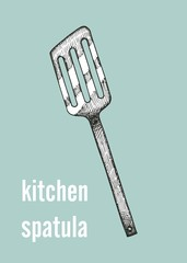 kitchen spatula vector illustration
