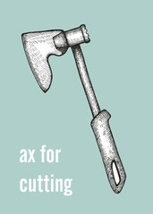 ax for cutting vector illustration