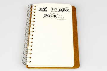 My story book on the white