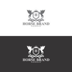horse brand logo in vector
