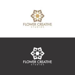 flower creative logo in vector