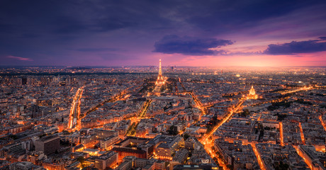 Paris View at Sunset Fototapete