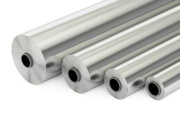 aluminum or steel foil rolls, 3D rendering