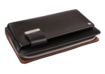 0cd9e727 indoor men's wallet on the background of isolation; Clutch bag w ...