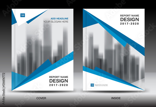 Quot Blue Cover Design Annual Report Template Business