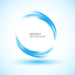 Abstract swirl energy blue circle