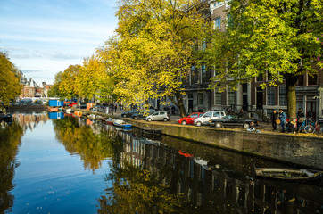 Boats in Amsterdam, Netherlands