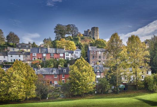 Lewes Castle in autumn