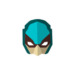 Set of super hero masks in flat style. Big collection cartoon superhero. Vector