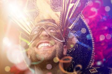 Man on a carnival parade