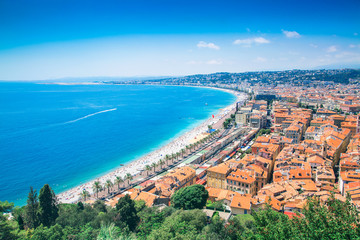Foto op Canvas Nice Beautiful Cote d'Azur in France