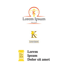 Letter K law and attorney logo, elegant law and attorney firm vector logo design. Corporate, brand, identity