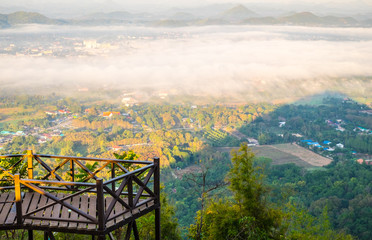 Beautiful Viewpoint view from top mountain at Phu Bo Bit, Loei, Thailand