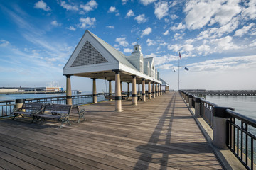 Fishing pier at the Waterfront Park, in Charleston, South Caroli