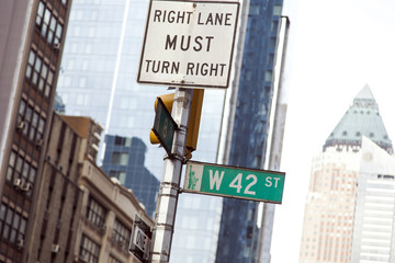 W 42 Street Sign Manhattan New York