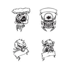 Dead skull Illustration design