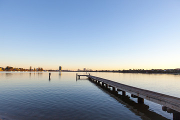 A jetty along Perth's Swan River in Western Australia