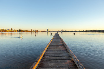 A jetty along Perth's Swan River in Western Australia