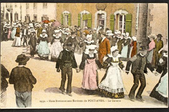 Carte postale ancienne / Noce bretonne
