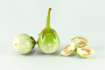 Green Eggplant isolated on white background