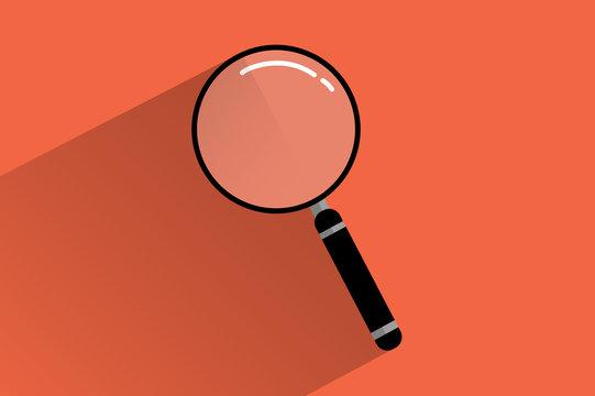 ícono de búsqueda forma de lupa estilo flat design