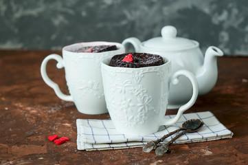 Cupcake in a mug