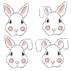 Vector Rabbit Illustration Set