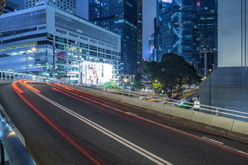 Traffic road in downtown of Hong Kong,China.