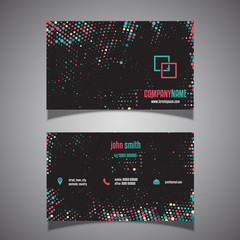 Halftone dots business card