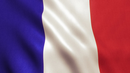 French Flag Waving - France Texture